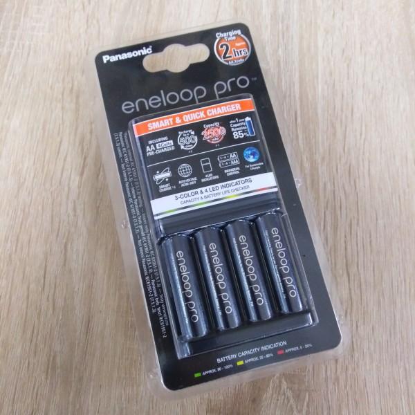 Зарядное устройство Panasonic BQ-CC55E + Аккумулятор Eneloop BK-3HCDE AA 2500mAh 4шт.